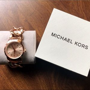 Brand new, rose gold Michael Kors watch